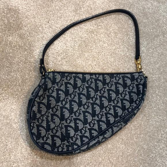82c81cd97ba Dior Handbags - 💥Sale! Dior navy blue vintage mini saddle bag